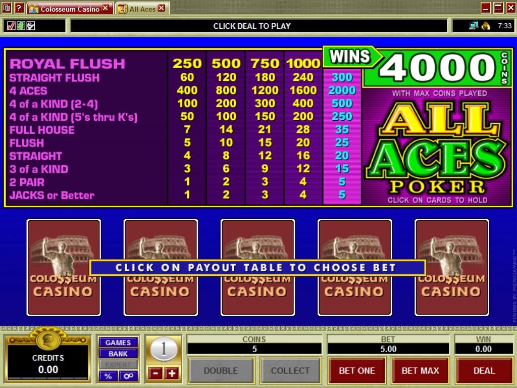 Casino colloseum free slot gambling willie chords