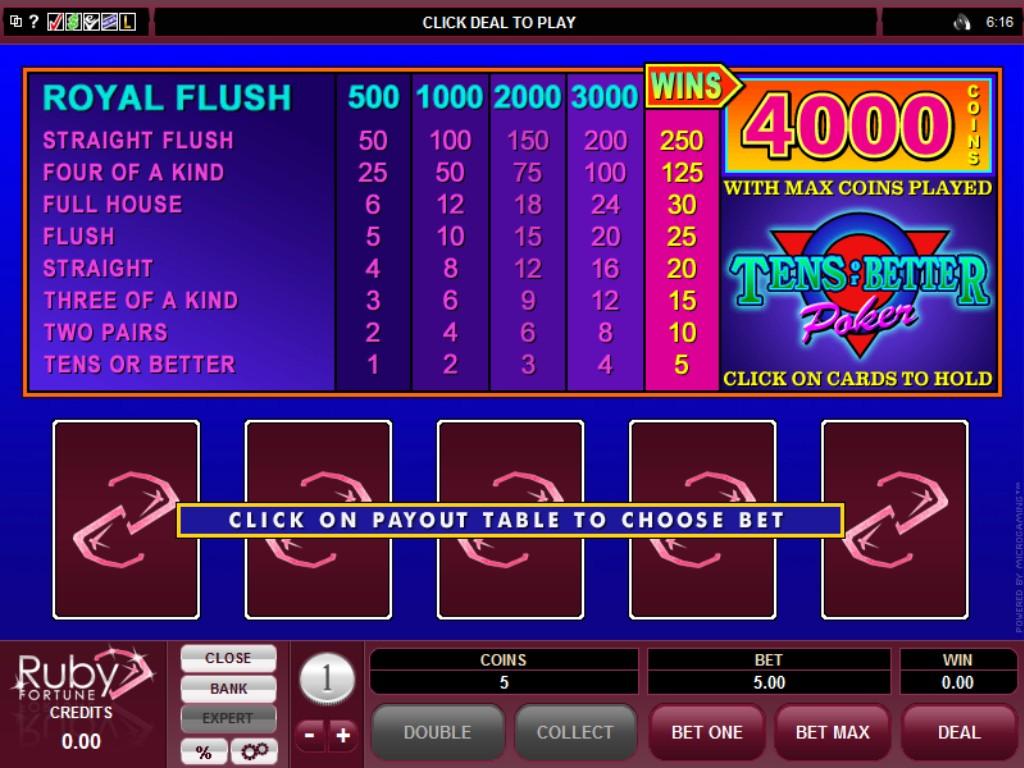 Ruby Fortune Casino Slots