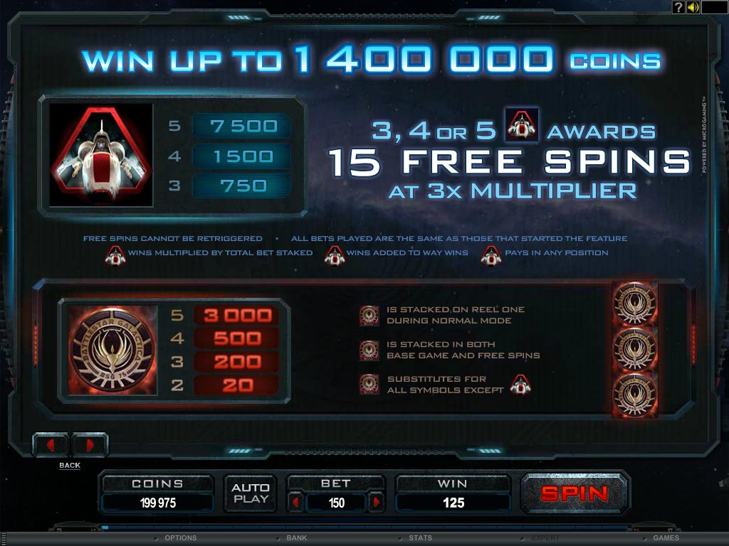 Battlestar Galactica Slot Machine Online ᐈ Microgaming™ Casino Slots