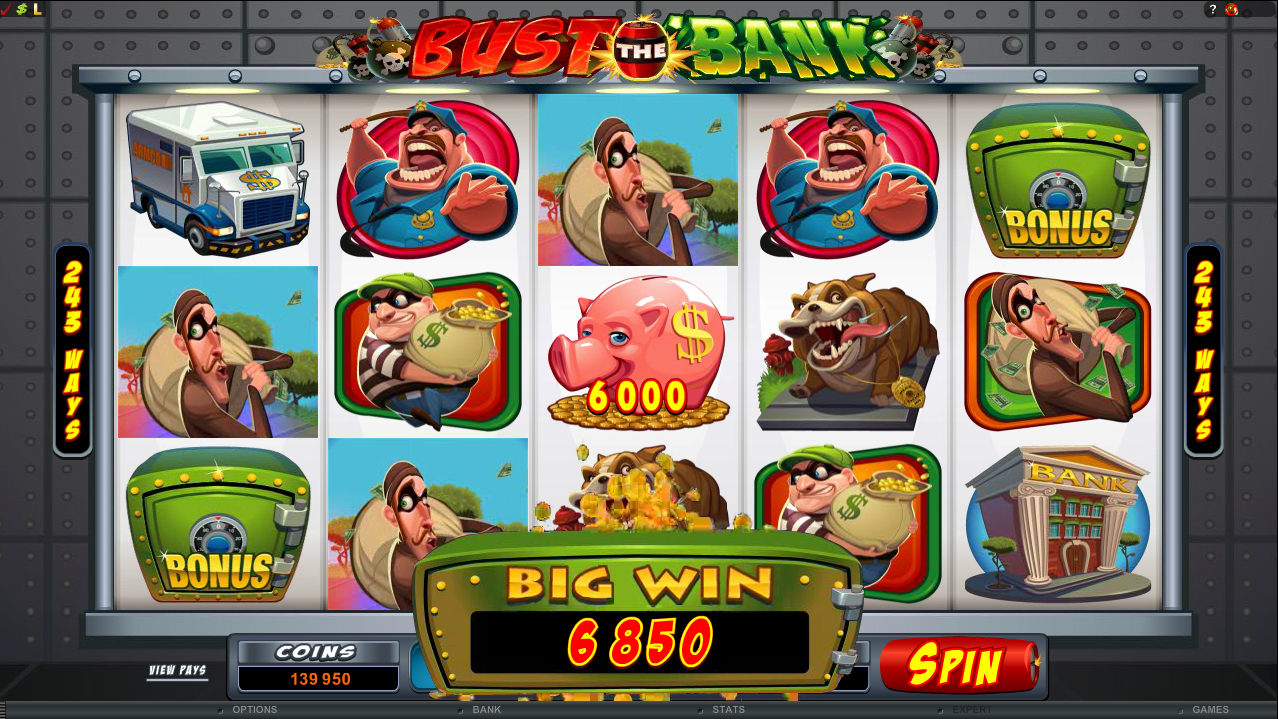 All About Slots Microgaming Bust The Bank Video Slot Review