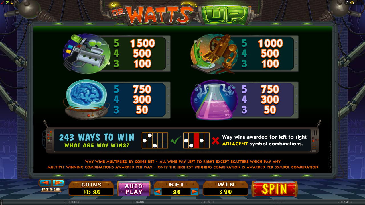 Spiele Dr Watts Up - Video Slots Online