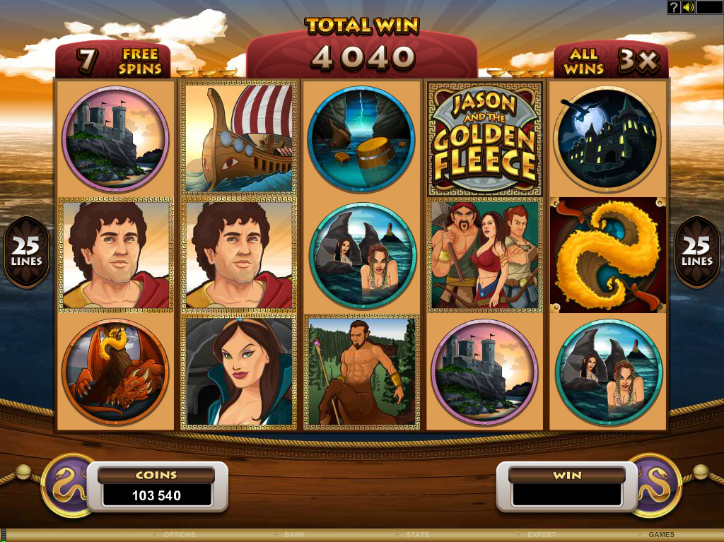 All About Slots Microgaming Jason And The Golden Fleece