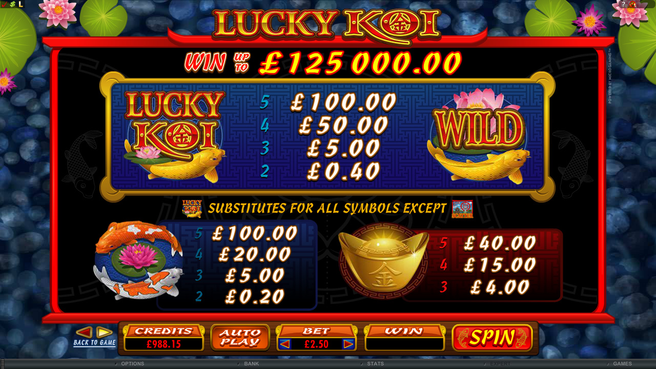 Lucky Koi Slot - Play Free Microgaming Casino Games Online