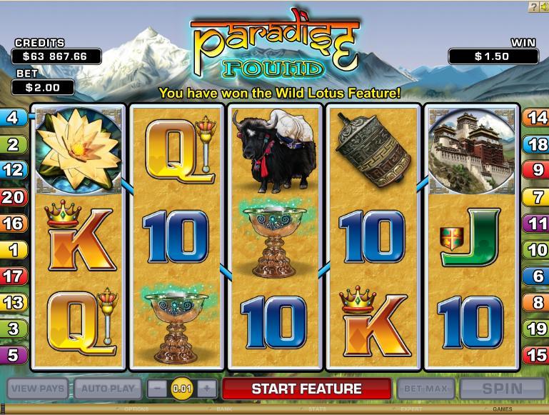 Paradise Found slot - spil gratis casino slots online