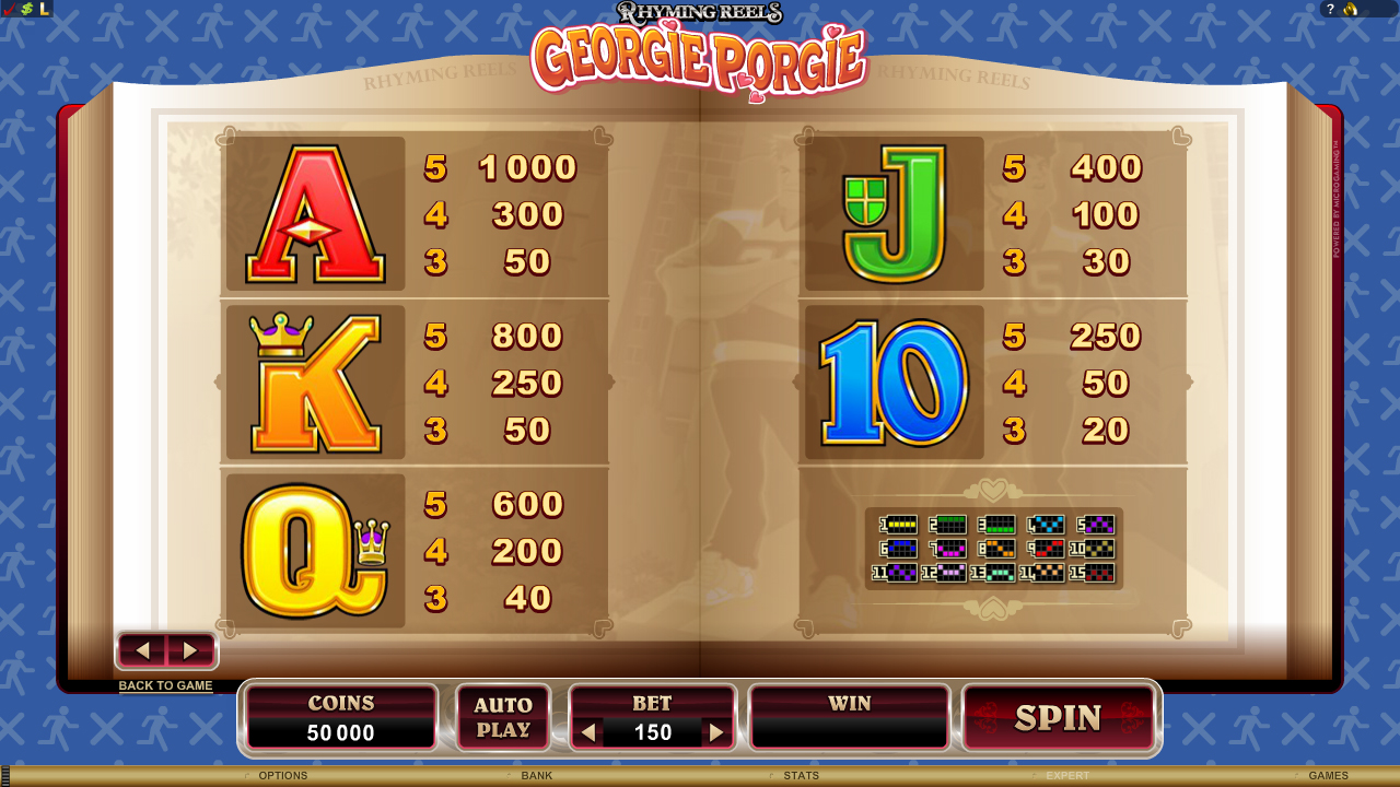 Georgie Porgie Slot - Play Free Microgaming Games Online