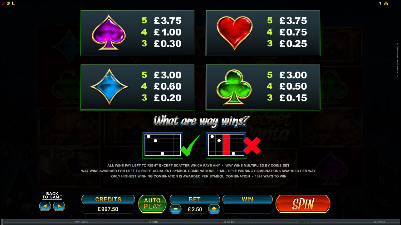 Secret Santa Slot - Play this Microgaming Casino Game Online
