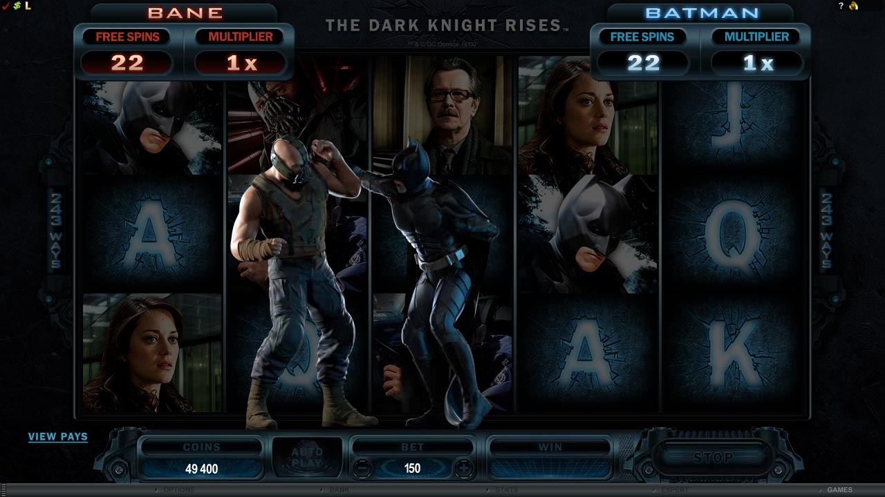 All About Slots Microgaming The Dark Knight Rises Video
