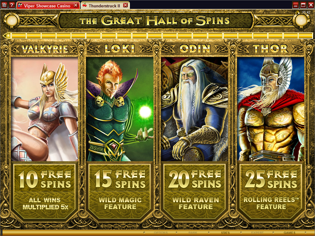Thunderstruck II Slots Review & Free to Play Casino Game